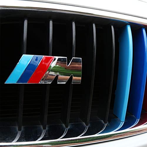 DIYUCAR Auto 3D M Logo Grill Dekoration Embleme für F30 F48 F34 F20 F10 F25 F26 G30 G11