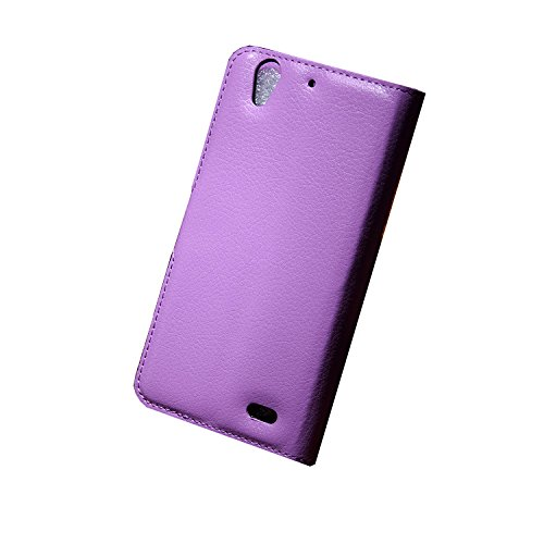 Easbuy Pu Leder Kunstleder Flip Cover Tasche Handyhülle Case Mit Karte Slot Design Hülle Etui für Huawei Ascend G630 Smartphone Handytasche