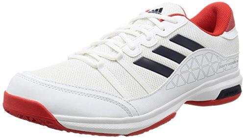 Adidas Men\'s Barricade Court Oc Ftwwht/Conavy/Corred Tennis Shoes - 8 UK/India (42 EU)(CG3098)