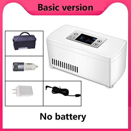 414LJRX1jkL - Refrigerador portátil de insulina, Caja refrigerada, Mini refrigerador para medicamentos pequeños (Blanco) 210 * 106 * 95 mm