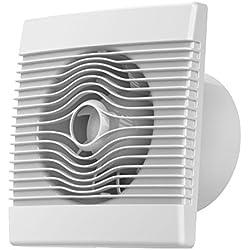 Prime de bain mur de la cuisine haut débit extracteur ventilateur de 120mm avec cordon de tirage