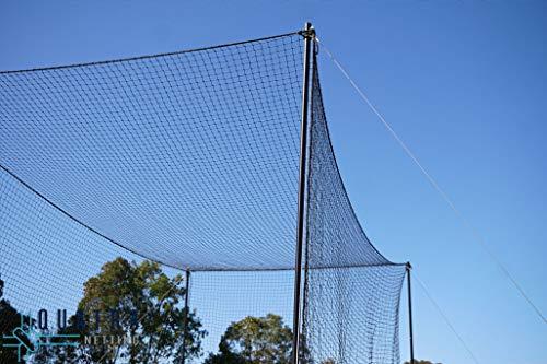 3M Cricket World Ultimate Cricket Netz - Garten-Cricket-Käfig Sport Cricketschläger-Übungskäfig Wetterfest - extrem langlebig - (100 x 10)