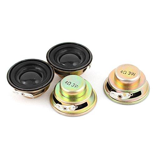 sourcingmap® 4Stück Multimedia 3W 3Watt 4 Ohm 40mm Dia Aluminum Internal Magnet Lautsprecher