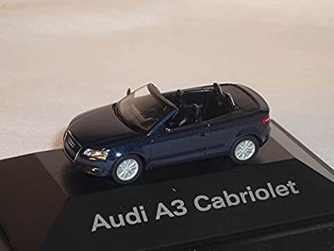 Audi A3 A 3 Cabrio Tiefsee Blau Tiefseeblau Ho H0 1/87 Herpa Modellauto Modell Auto