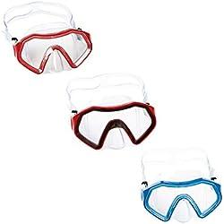 Bestway Hydro hrm-Swim Sparkling Sea Masque de plongée pour Enfant, Multicolore, à partir de 7Ans