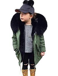 JiaMeng Abrigo Gruesa de algodón con Capucha Chaqueta de Abrigo Abrigos de Invierno para niños pequeños Parka Niño Calentito Chaqueta Plumas Manga Larga