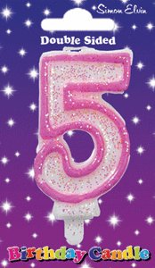 Simon Elvin Age 5 Birthday Cake Candle Pink Number 5 Cake Decoration (Se) from Simon Elvin