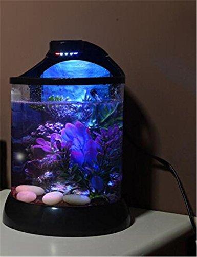 YANFEI 10L pequeño acuario acuario escritorio pequeño