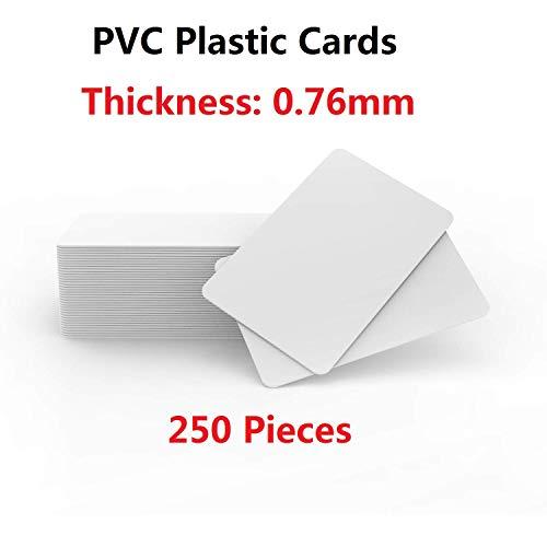 PVC-Karten - Blanko, Weiß, CR80, 760, 250 Stück Timeskey NFC Plastikkarten PVC Card Kompatibel Mit ID Karten Drucker