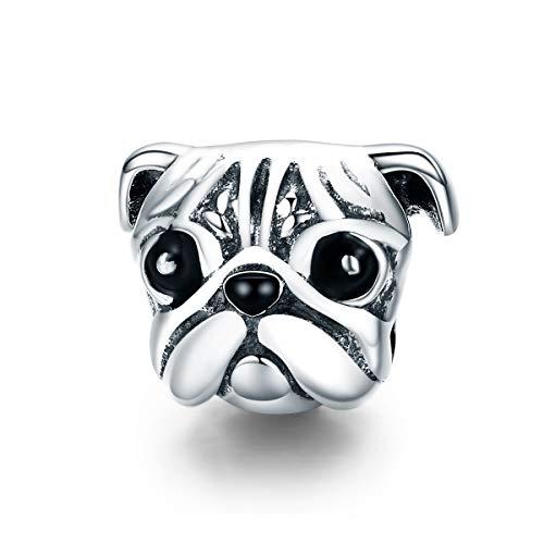 Inbeaut-100-Argent-sterling-925-Lovely-Animal-Tte-de-chien-carlin-Charm-perle-pour-femme-Charm-Bracelets-et-colliers-DIY-Bijoux