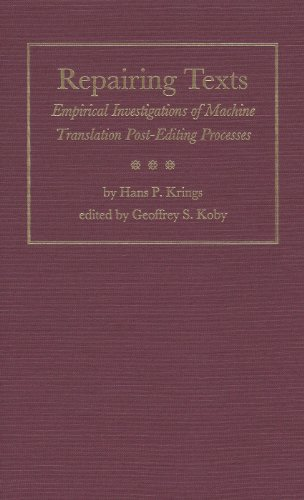 Repairing Texts: Empirical Investigations of Machine Translation Post-Editing Processes