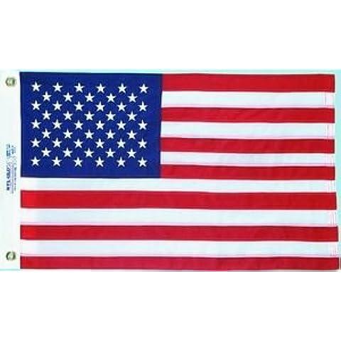 Annin Nyl-Glo Nylon Outdoor U.S Flag (2 x 3-Feet Sewn) by Annin