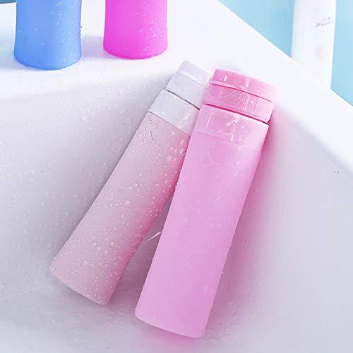 Genven Einfach zu bedienende Haushaltsprodukte Silikon-Nette Reise füllt flüssige Reise-Behälter für Shampoo, Conditioner, Lotion, Toilettenartikel ab -