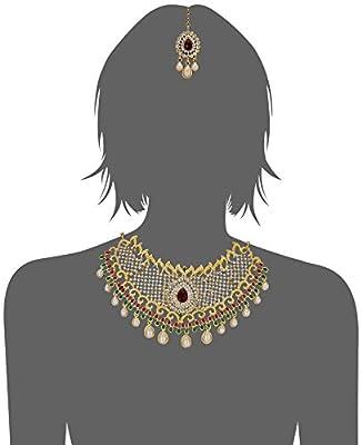 Sukkhi Jewellery Sets for Women (Golden) (3135NADS1600)