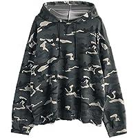 Damen Sweatshirt,Geili Frauen Langarm Kordelzug übergroßen Camouflage Hoodie Bluse Shirt Tops Damen Große Größe... preisvergleich bei billige-tabletten.eu