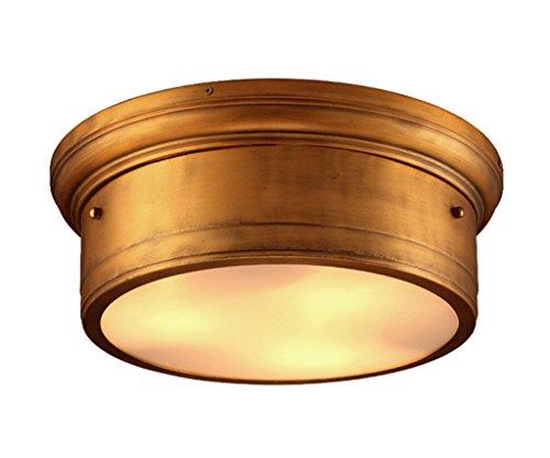 Home mall- Einzelne Eisen Deckenleuchte Kreative Persönlichkeit Balkon Gang Cafe Bar Licht E27 ( Farbe : Bronze )