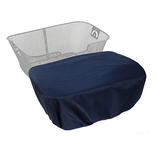 MadeForRain Extra große, wasserdichte Regenhülle/Abdeckung für Fahrradkörbe CityTurtle XL - Nachtblau