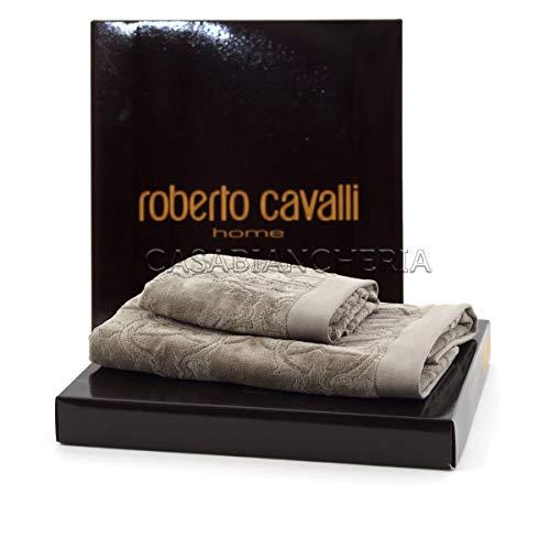 Roberto Cavalli Handtuch Logo Grey