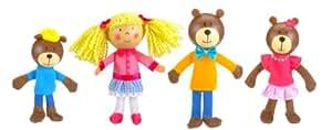 Fiesta Crafts Goldilocks Finger Puppet Set