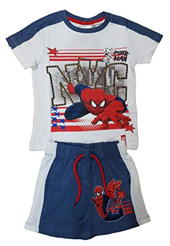 Spiderman Jungen Outfit Set(128 (7-8 years),White)
