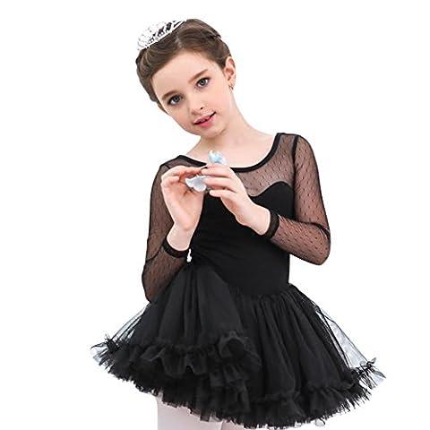ESHOO Princess Girls Kids Fairy Ballet Tutu Gymnastics Leotard Skirt Tutu Dance Dress