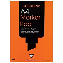 Goldline A4 Marker Pad, 70 gsm, Bleedproof, 50 Sheets, White