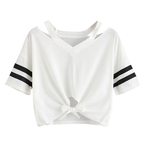 1d40a9a7a LILICAT Camiseta Corta para niñas Adolescentes 2018 Moda Verano Sexy Tops  de Manga Corta