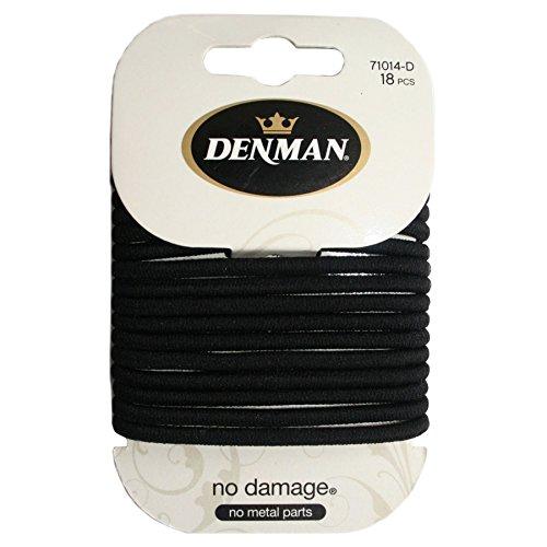 Denman Large No Damage Elastics x 18 (Pack of 2)