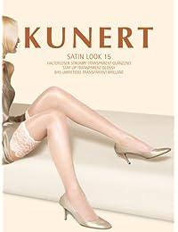 KUNERT Satin Look Strumpf 3er Pack 124000/0010 weiß 41-42