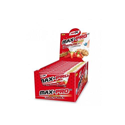 Amix Max-Pro Protein Bar Barrita Energética con Sabor a Cookie - Paquete de 20 x 60 gr - Total: 1200 gr__8594159533578