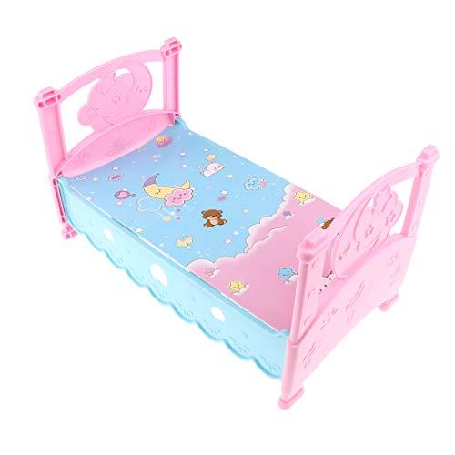 Homyl Mini Babyzimmermöbel Badewanne / Doktorset / Krippe / Babybett / Etagenbett / Schaukelstuhl Möbel Spielzeug für MellChan Baby Puppen - Babybett (Babybetten Etagenbetten)