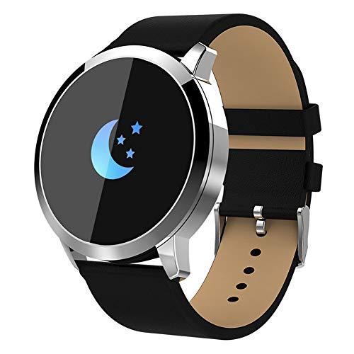 Sguan-wu Q8 Fitness Tracker Herzfrequenz-Blutdruckmessgerät Smart Armband Bund - Silber