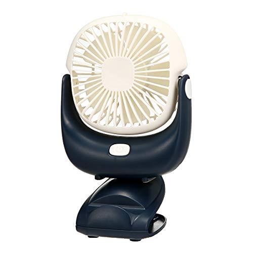 TENGGO 360 Grad Einstellbar Tragbare 2 In 1 Clip Auf Fan Camping Fan USB Wiederaufladbare Mini Schreibtisch Pram Fan
