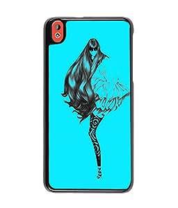 Fuson Blue Girl Back Case Cover for HTC DESIRE 820 - D3812