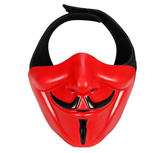 For Kostüm Vendetta V Kind - Erwachsene Kinder Gruselige V für Vendetta Maske Halloween Kostüm Party Rollenspiele Requisiten Cosplay Zubehör