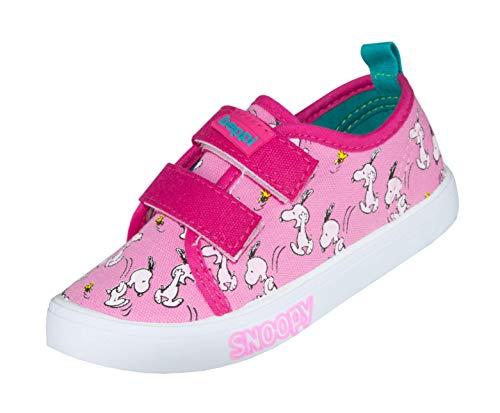 Beppi Pinke Mädchenschuhe mit Snoopy-Motiv, Kinder-Schuhe Peanuts, Gr. 21 (Charlie Brown Kostüm Mädchen)