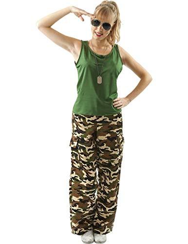 Meine Damen Camouflage Army Mädchen Soldat Militär Verkleidung Kostüm Large