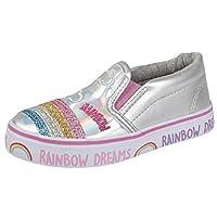 Buckle My Shoe BMS Metallic Rainbow Slip On Pumps Size 10