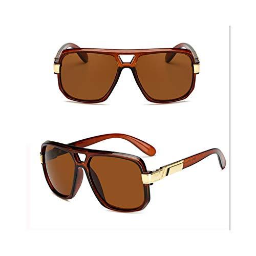 Sportbrillen, Angeln Golfbrille,Longkeeper Women Sunglasses NEW Fashion Men Square HD Lens UV400 Sun Glasses Unisex High Quality PC Frame Car Driving Glasses C3