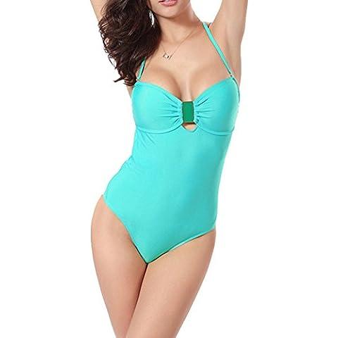 Moollyfox Moda Cabestro Escotado Por Detrás Sujetador Clásico De La Mujer Más Una Pieza Doblan El Traje De Baño