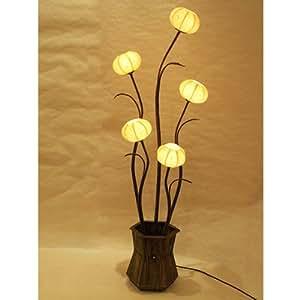 kugelschreiber aus papier von reis oder maulbeerseide mit lampenschirm gelb rund handarbeit. Black Bedroom Furniture Sets. Home Design Ideas