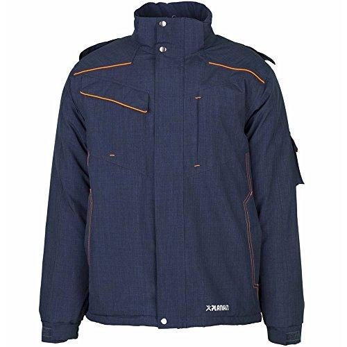 PLANAM Neon-Jacke - atmungsaktiv, wasserdicht, winddicht - mehrere Farben marine/orange