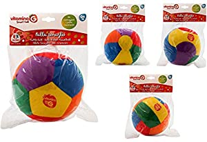 GLOBO- Cm15 Ball W/Bell 4Asstd (Polyester) (05079), (1)