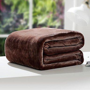 """Coral fleece Solide Polyester/Baumwolle Mischung Decken, W 70"""" x 79"""" (W 180 x L 200 cm), dunkle Schokolade"""