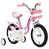 "R BABY LITTLE SWAN PINK GIRL'S BIKES IN SIZE 14""+ Adjustable removable stabilisers+bell"