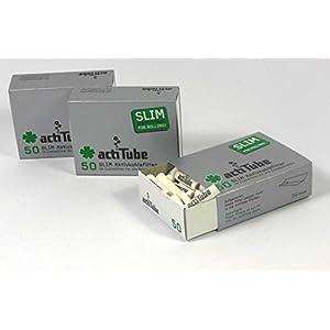 150 ActiTube SLIM Aktivkohlefilter 3 x 50er Box Display 7mm Eindrehfilter in Acti Tube Tune Filter Tips Filtertips Aktivkohle