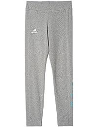 adidas Yg Linier Tight Leggings für Mädchen, Schwarz (Schwarz / Weiß)