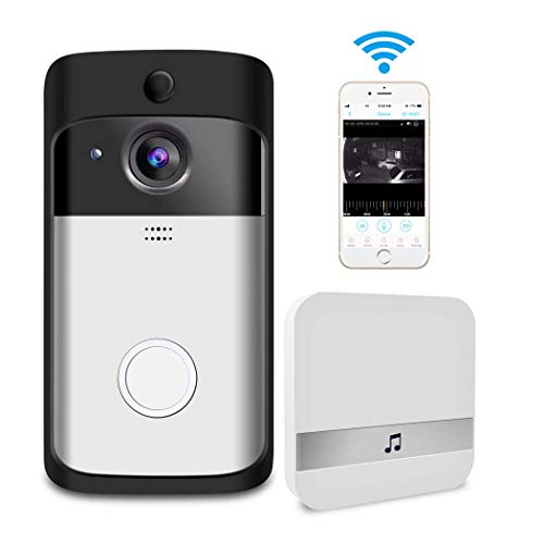Video Doorbell Smart Wireless Home WiFi Security Camera Indoor Chime 2-Way Talk Night Vision PIR Motion Detection APP Control for iOS Android Accfly