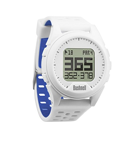 Bushnell Unisex Compact Neo Ion Preloaded Worldwide Mapping Golf Watch, White/Blue