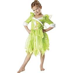 Disney Princesas Disfraz de Campanilla Winter, para niñas, talla M (Rubie's 881869-M)